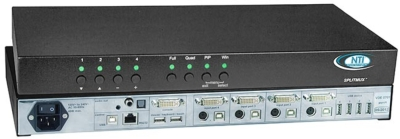 NTI Announces the Advanced Quad Screen Splitter with KVM Switch & Real-Time Video