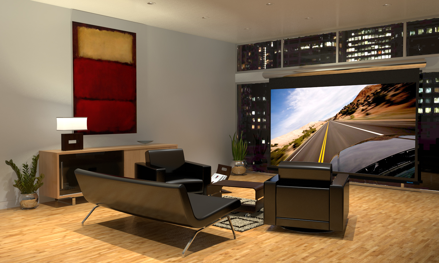 Stewart Filmscreen Announces Contemporary Cabaret Screen For Media Room Installations