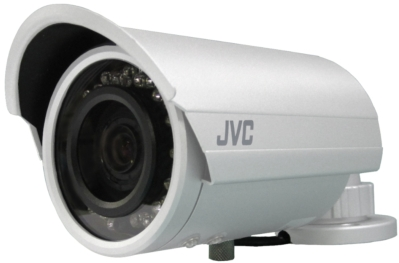 JVC Bullet Security Camera with built-in IR LED technology delivers True Day/Night operation