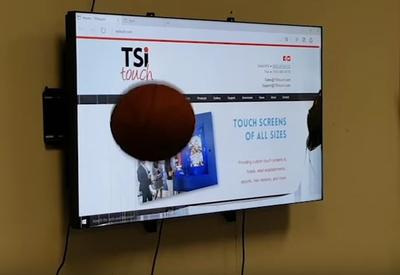 Shooting Hoops with Our Tempered Glass Touch Screen
