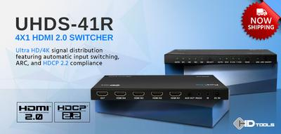 PureLink's New 4x1 UHDS-41R Switcher Now Shipping - Company's Ultra HD Digital A/V Switching Solution is Both HDMI 2.0 & HDCP 2.2 Compliant