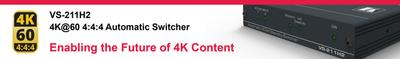 Kramer Prepares for Future of 4K Content with Release of 4K@60 4:4:4 Switcher