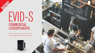 Electro-Voice EVID-S commercial loudspeakers for indoor and outdoor use with time-saving wall-mount system