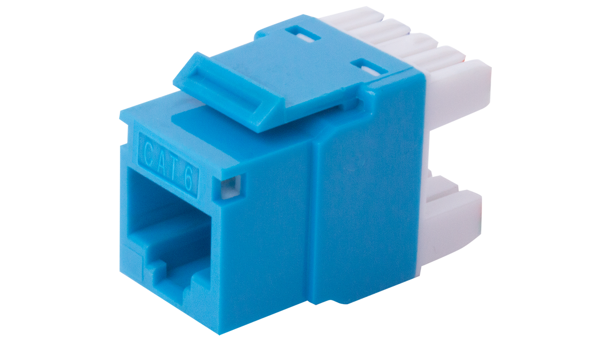 0A68RP000-BL | 180° RJ45 Structured Cabling/Wiring Keystone Insert ...