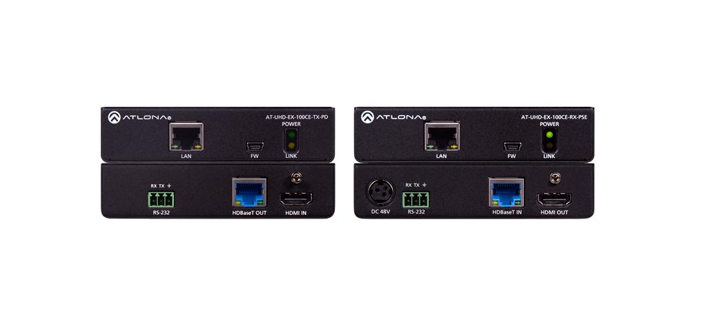 100CER-PoE-EXT | 100m 4K/UHD HDMI over HDBaseT Extender with