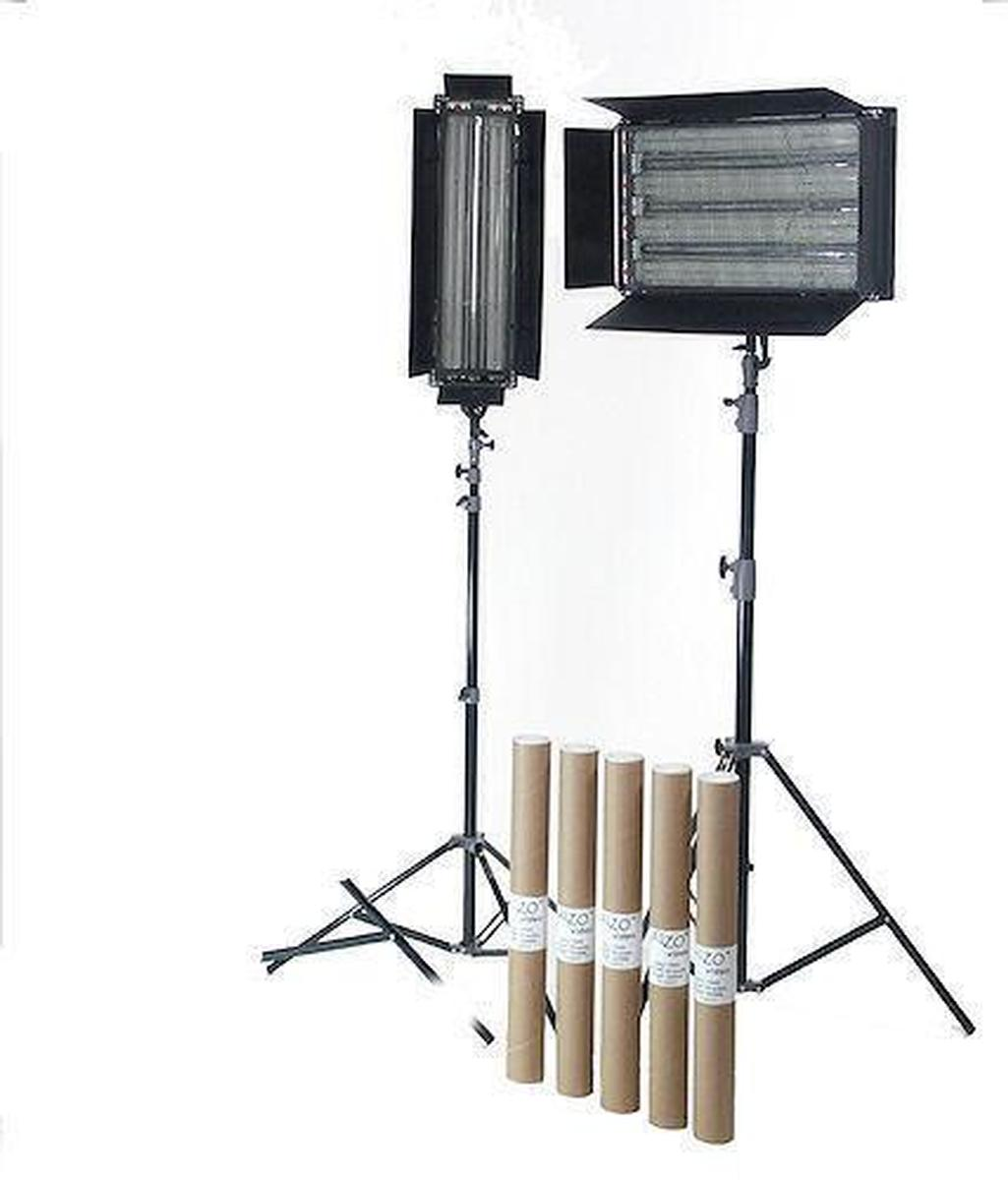 ALZO Digital - 1816  sc 1 st  AV-iQ & 1816 | Dimmable Video Pan-L-Lite Quad-Twin 2-Light Kit | ALZO ...