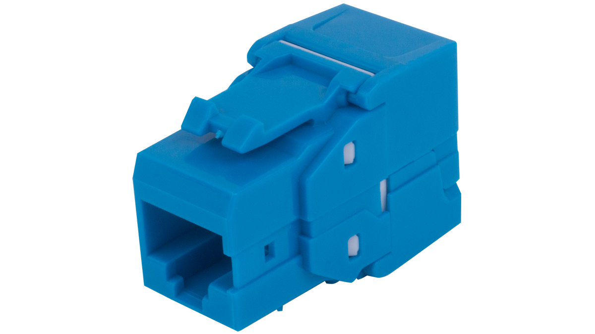 1a68tp0a0 Bl 180 Rj45 Structured Cabling Wiring Keystone Insert Solutions Blue