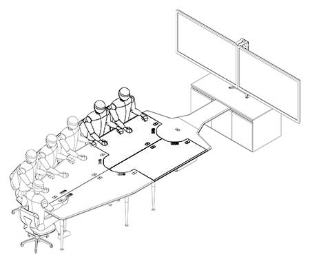 Extension RCT Extension For Table Packages Collaboration - Conference table dwg
