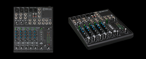 8 Channel Compact Analog Mixer With 3 Onyx Pre Amps
