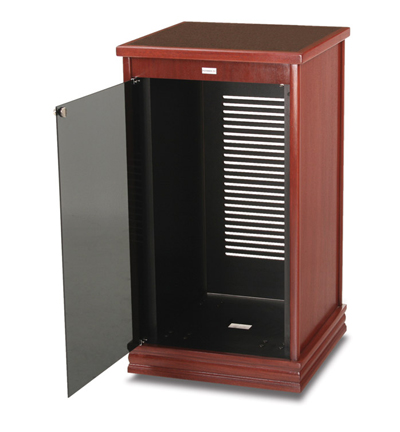 Wood Veneer Finished Rack Cabinet 25 75 W X 48 H 26 D