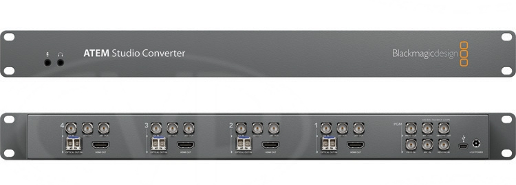Atem Studio Converter 4 X Optical Fiber Converter 1 Ru Design Supports Talkback And Tally Blackmagic Design Av Iq Europe