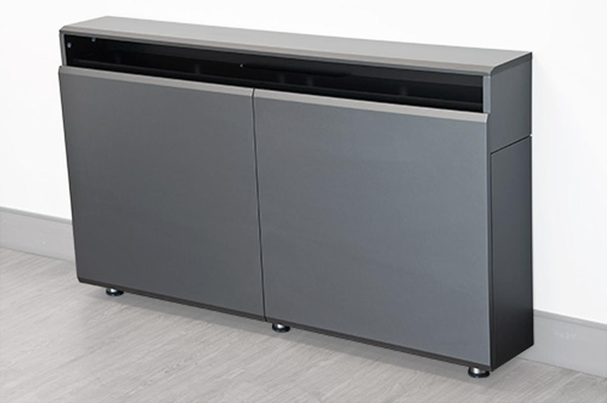 Cr wm dual rack wall mounted credenza audio visual furniture