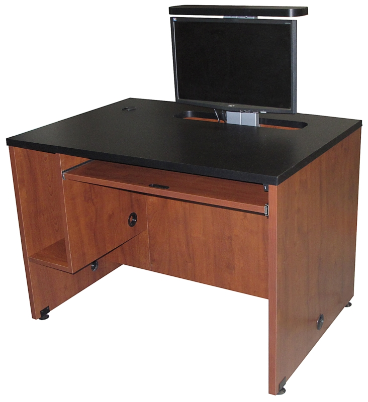 ds 4230 computer desk with monitor lift exact furniture av iq. Black Bedroom Furniture Sets. Home Design Ideas