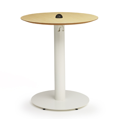 EDUKOSMP Oval Cafe Table With PowerMat Standing Height - Standing cafe table