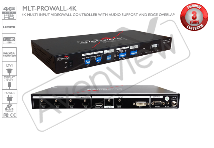 Mlt Prowall 4k 4k Multi Input Cascadable Video Wall Controller