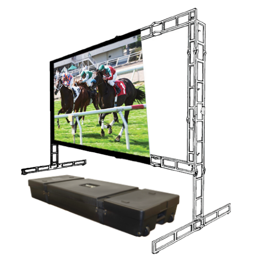 Porta-Fold Truss | 16:9 Portable Front/Rear Projection Screen with 6