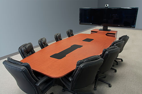 T T CJT Video Conference Table Thermowrap Crossfire Java - Conference table cubby