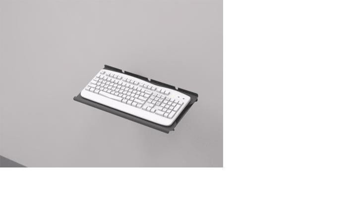 Wm Tr Mz Wall Mount Keyboard Tray On Z Arm Afc