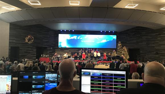 All Pro Selects Analog Way Ascender 32 - 4K to Drive LED Videowall in Canyon Del Oro Baptist Church's New Sanctuary