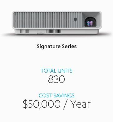 Casio LampFree® projectors save time, money and trouble in York County Virginia.