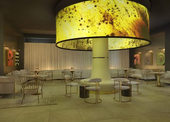 Optoma's Ultra-Short Throw Projectors Revamp Angad Arts Hotel Lounge to Showcase Inspiring and Local Video Art