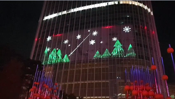 A Mesmerizing Display of Art on Lotte World Tower Powered by Barco Projectors