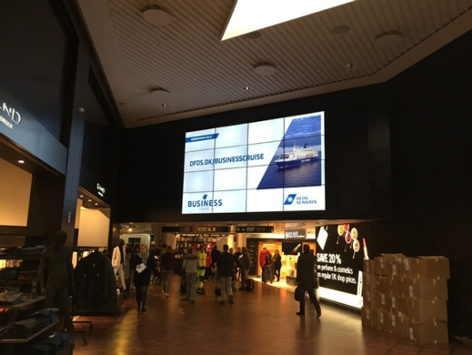 Video Walls Soar at Denmark Airport