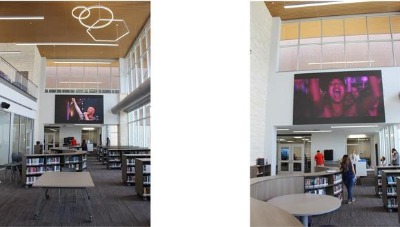 New Texas middle school installs New Absen N2Plus LED Wall for School Library