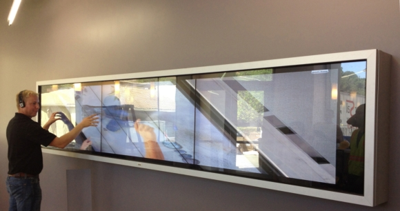 CyberTouch Manufactures and Installs Interactive Video Wall for Local Private School