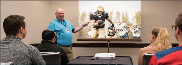 Collegiate Sports Video Association (CSVA) Choose LampFree Projectors to Show Game Film
