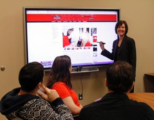 Caldwell University Uses AQUOS BOARD™ Interactive Display Systems to Enhance Learning