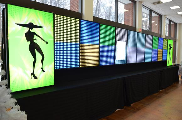 12-Monitor Video Wall Steals the Show at Corporate Party