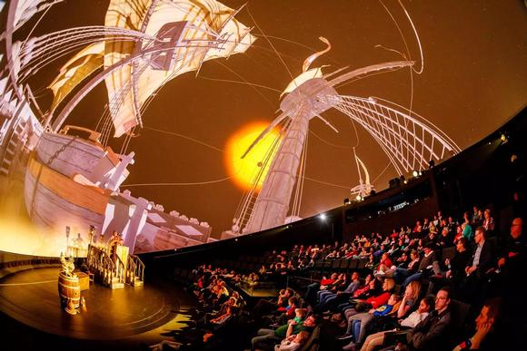 3D hybrid dome theater creates 700m2 immersive experience