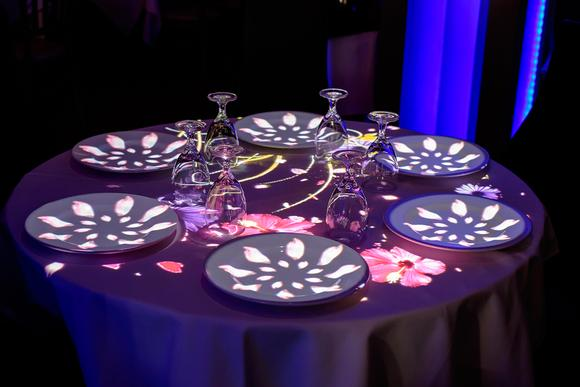 Optoma lights up Éclair Bistro with projection mapped ambience