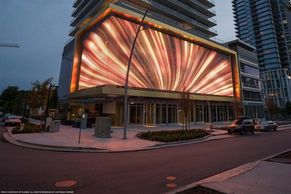 Gold House LED Public  Art Display