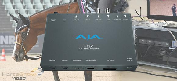 HorseShow.Video Live Streams & Records Equine Tournaments with AJA HELO