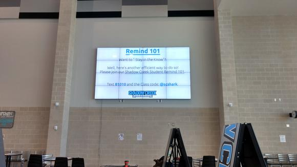 Public High School in Houston TX, 4x4 and 2x2 Video Walls