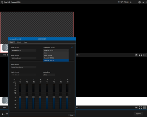 NewTek Connect Pro Turns Multiple Matte, Fill, & Audio Sources Into One NDI Stream