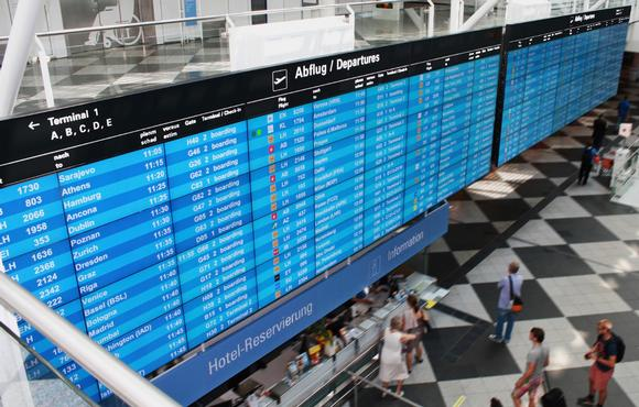 One of the World's Largest Flight Information Displays Powered by Matrox M-Series Cards