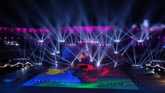 Barco projectors craft stunning projection mapping at Indonesia's 2016 PON Games