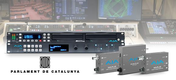Parliament of Catalonia Powers Live HD Broadcasts with AJA Solutions for Recording, Conversion and Frame Synchronization