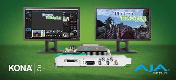 Photron's TFX-Artist Uses AJA KONA 5 to Power 4K/UltraHD Telop for Japanese Broadcasts