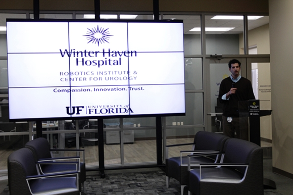 Floating Video Wall Scores Big at Clinic