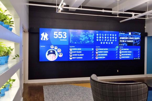 Peerless-AV helps global brand wow customers with installation of large video wall in NYC headquarters