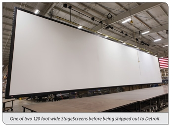 Giant StageScreen and Cool Cars