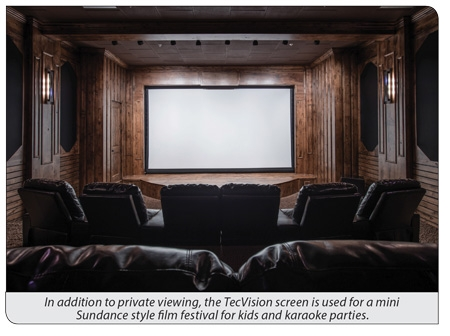 TecVision Stuns in Utah Home Cinema