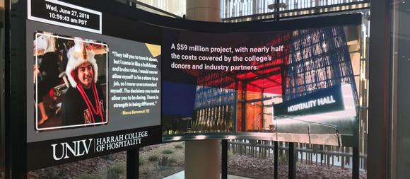UNLV's Harrah College of Hospitality wins big with new 4K media wall