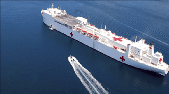 USNS Mercy hopital ship