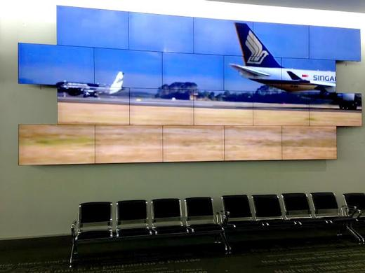 Video Wall technology takes off at Auckland Airport