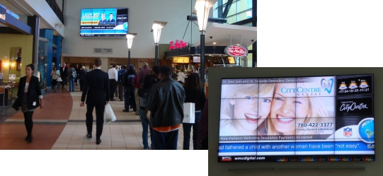 NEC Display: Edmonton City Centre